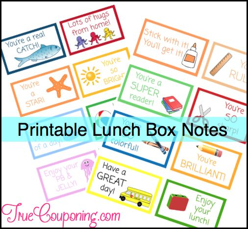 Why Not Download Some FREE Lunchbox Fun For Your Kids?!
