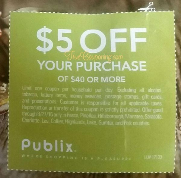 Well? Did You Get The Special $5 Publix Coupon Sunday 8/21? {NONE of my 6 papers had it in them!}