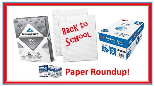 Back to School Paper Roundup! {Filler Paper & Copy Paper Deals}