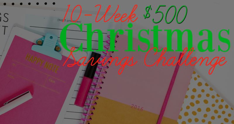 How To Save $500 Over The Next 10 Weeks! {Join My $500 Savings Challenge!}