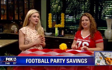 {Video Replay} Fox 13 Savings Segment ~ Super Simple Ways to Save on Your Football Party!