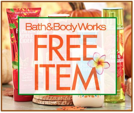 bath and body works free item 9-29
