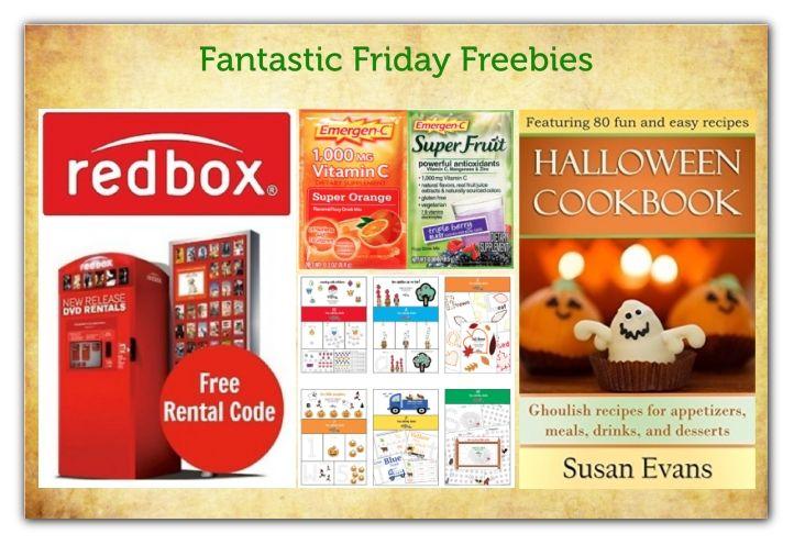 FOUR FREEbies: Redbox Code, Halloween eCookbook, Emergen-C Packets and ...