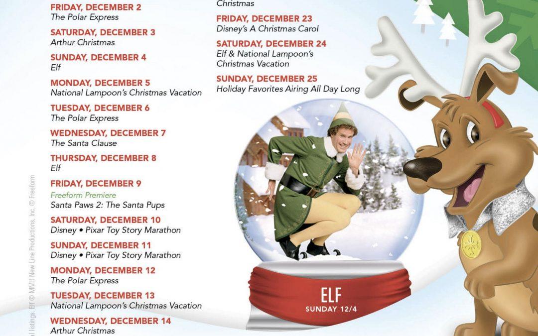ABC Family 25 Days of Christmas TV Show Listing for 2016