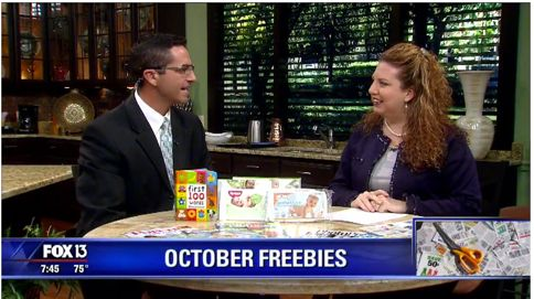 {Video Replay} Fox 13 Savings Segment ~ Five Fantastic FREEbies for October!
