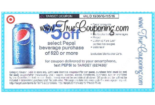 {REMINDER} Saturday is the Last Day to Use the Target $5/$20+ Pepsi Beverage Purchase!