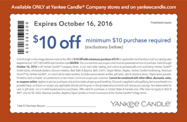 Yankee Candle 10-16-16