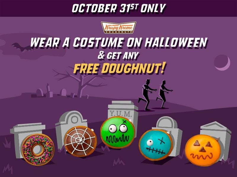 FREE Krispy Kreme Doughnut on Monday, October 31st!