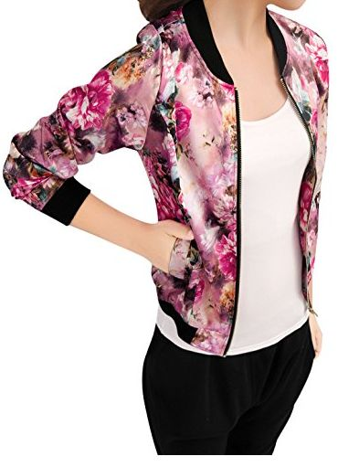 womens floral bomber jacket 10-26