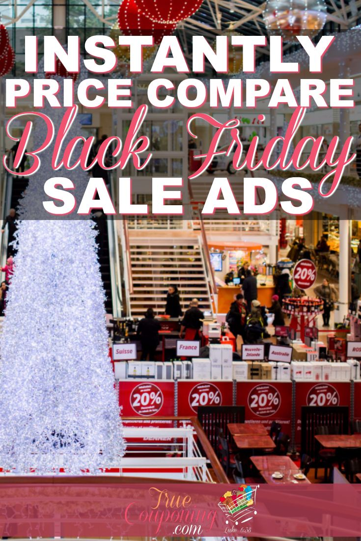 Did you know you can PRICE COMPARE across ALL Black Friday Ads?! Yep! Just type in
