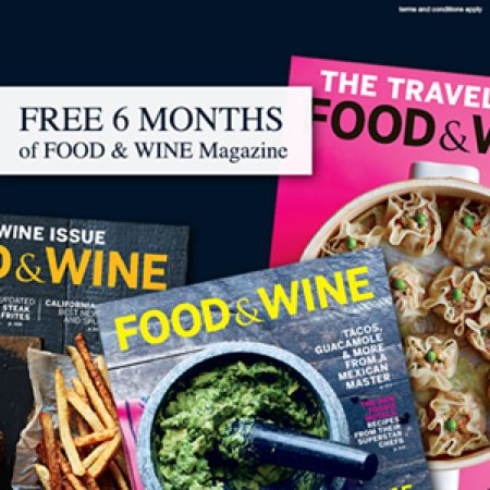 Free 6 month subscription to food wine magazine 35 value free 6 month subscription to food wine forumfinder Gallery
