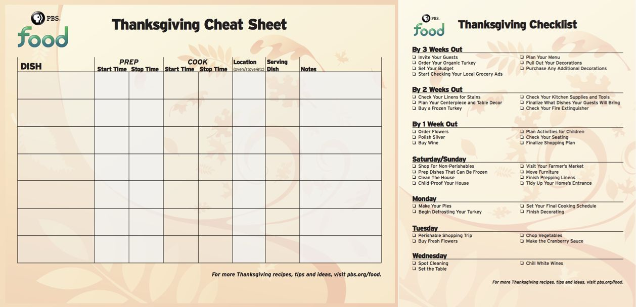 Free Thanksgiving Planning Checklist And Menu Cheatsheet Printables