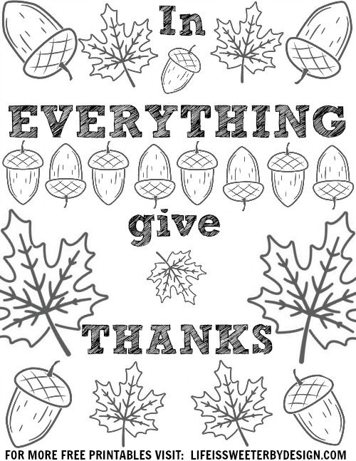 four freebies  thanksgiving thankful coloring page