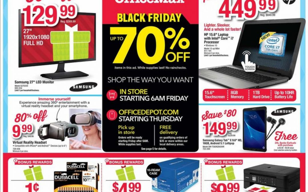 Office Depot Office Max Black Friday Ad Scan 2016 {with Printable Shopping List Feature!}
