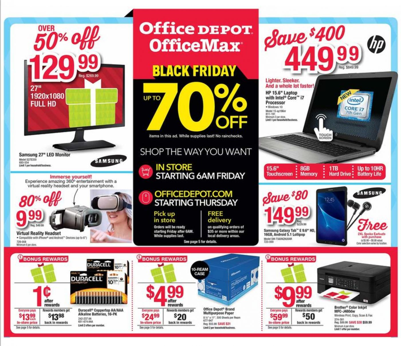 Office Depot Office Max Black Friday Ad Scan 2016 {with