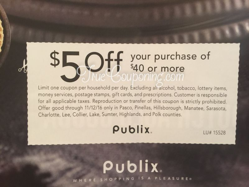 {Reminder} Saturday 11/12 Is The LAST DAY To Use Your $5 Off Publix Coupon!