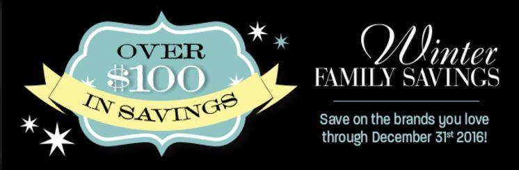 Publix Winter Family Savings coupon booklet