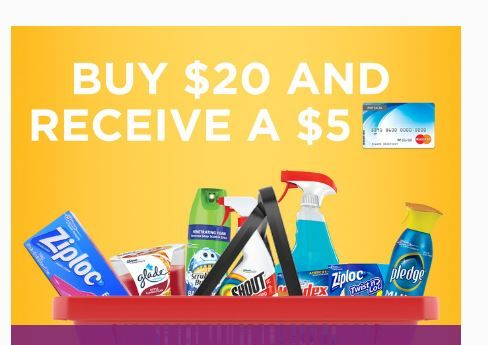 NEW SC Johnson Rebate: Get a FREE $5 Prepaid Card wyb $20 of SC Johnson Products! (Valid till 11/23/16)