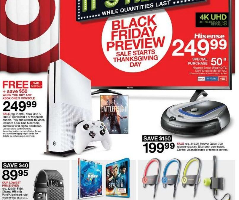 Target Black Friday Ad Scan 2016 {with Printable Shopping List Feature!}