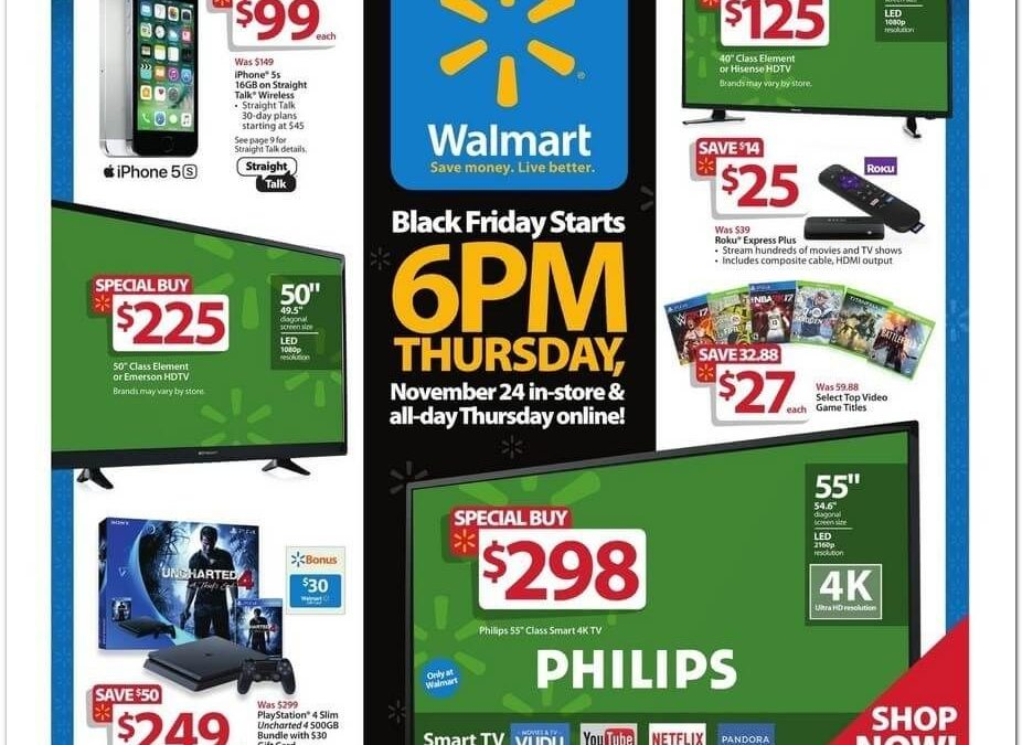 Walmart Black Friday Ad Scan 2016 {with Printable Shopping List Feature!}