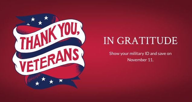 REMINDER: Military Families Get 10% Off Their Groceries at Publix TOMORROW in Honor of Veteran's Day!