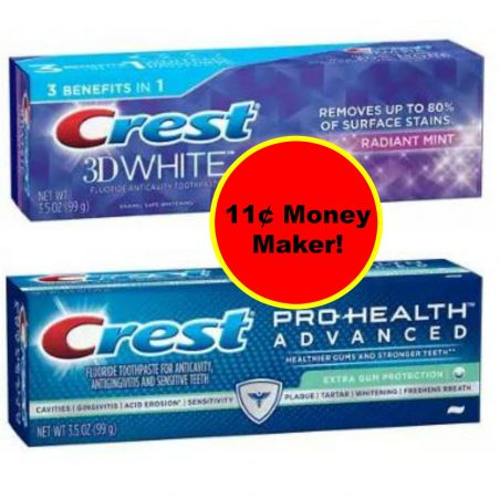 (3) FREE + 11¢ Money Maker on Crest Pro Health or 3D White Toothpaste at Walgreens! ~ Starts Today!