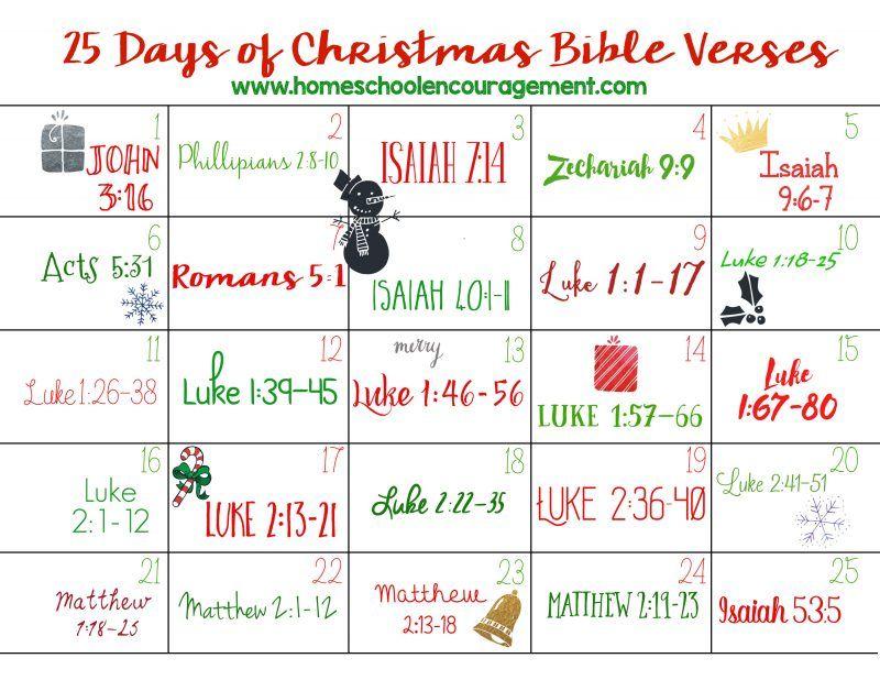 FREE 25 Days of Christmas Bible Verses!