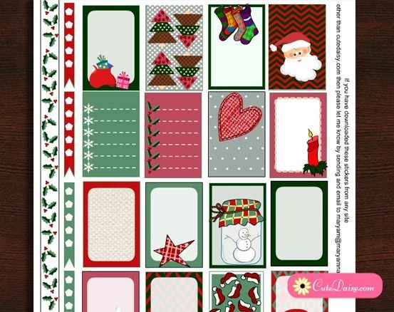 FREE Happy Planner Printable Christmas Stickers!