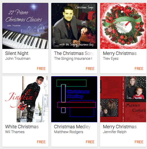 FREE Christmas Music from Google Play!