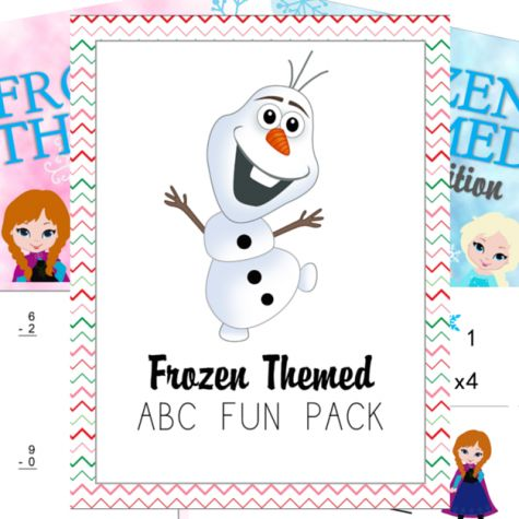 FREE Frozen Themed ABC & Math Printables!