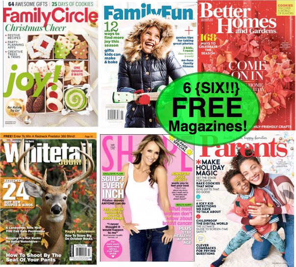 Fox Deal of the Week! SIX FREE Magazine Subscriptions!! Worth $240 Total! {No Credit Card Needed & You'll Never Get A Bill!}