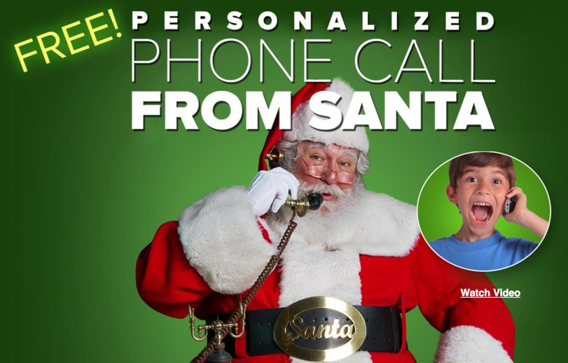 FREE Personalized Call from Santa!