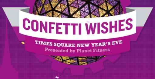 (**Update: NLA) FREE New Year's Confetti Wishes Over Times Square!