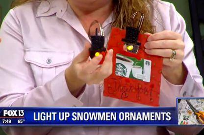 Light Up Snow Man Ornament