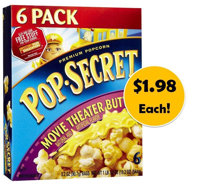 Pop secret popcorn coupons 2018