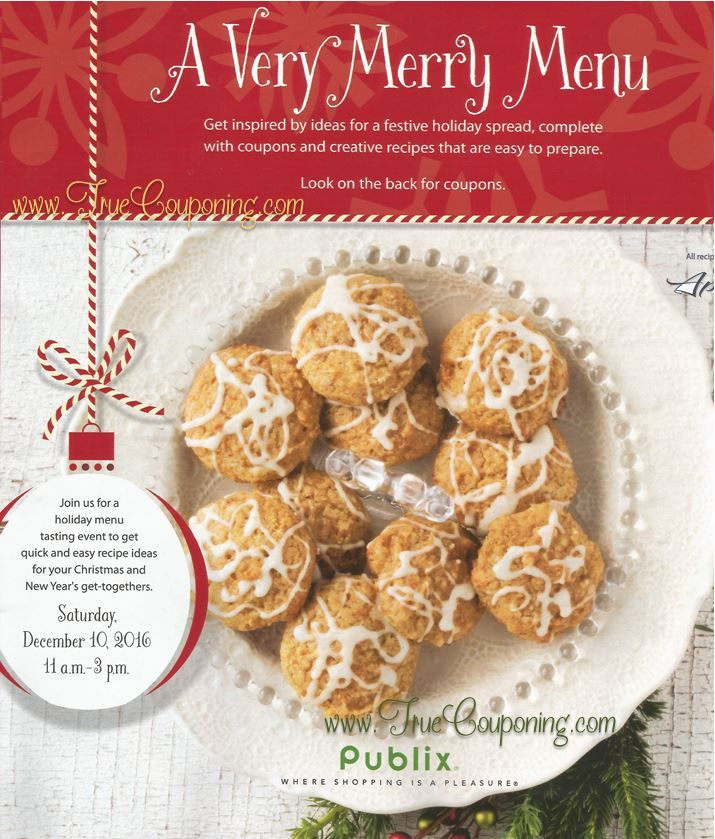 """Last Chance To Use Publix """"A Very Merry Menu"""" Coupon"""