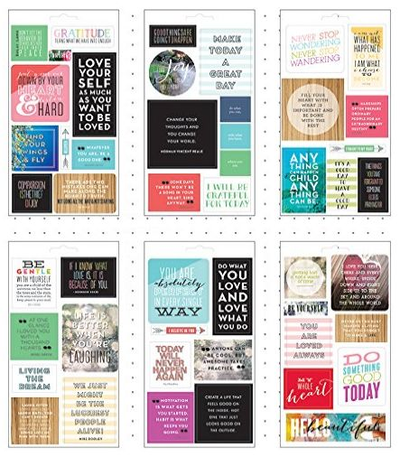 clear stickers for planners 12-19