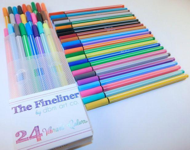 fineliner color pens 12-19