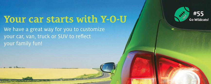 FREE Customizable Decal for your Car!