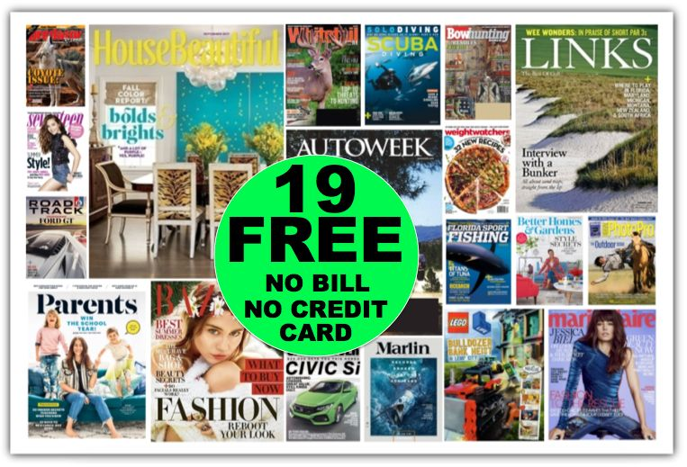 FREE Annual Subscription to House Beautiful Magazine {Worth $47} Plus 18 Other Free Magazines {No Payment Needed & You'll Never Get a Bill!}