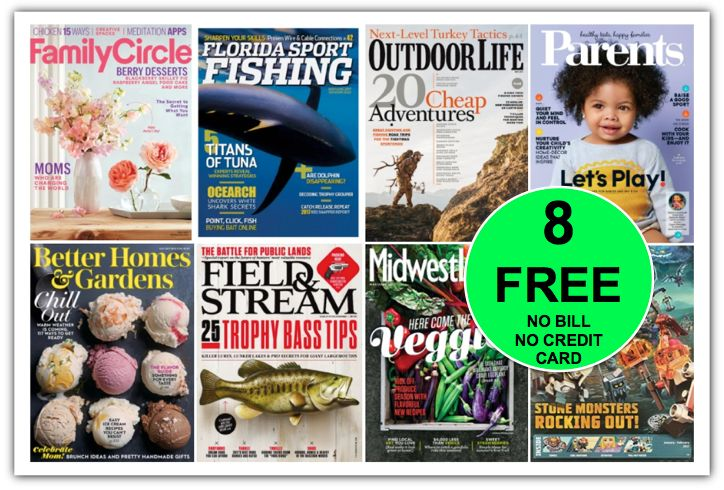 EIGHT {8!} FREE Magazine Subscriptions Including THREE {3!} Great Ones for Father's Day! {No Credit Card Needed AND You'll Never Get A Bill!}