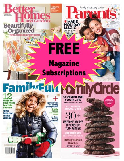 FOUR FREE Magazine Subscriptions Worth $157 Total! {No Credit Card Needed AND You'll Never Get A Bill!}