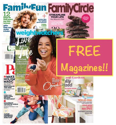 FIVE FREE Magazine Subscriptions Worth $186 Total! {No Credit Card Needed & You'll Never Get A Bill!}