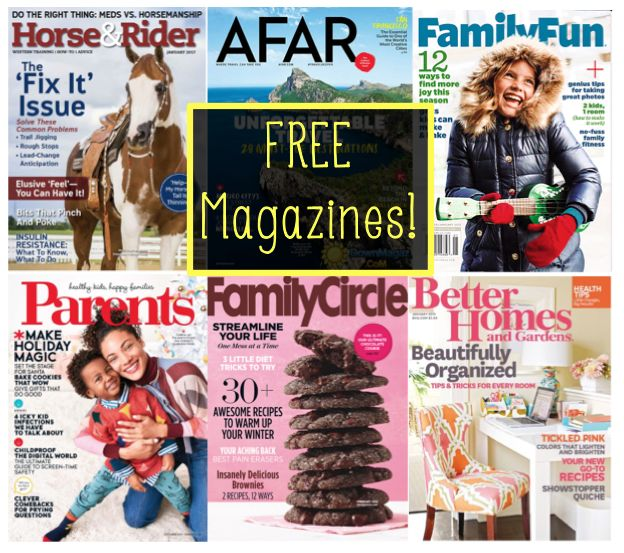 SIX (6) FREE Magazine Subscriptions Worth $270 Total! {No Credit Card Needed & You'll Never Get A Bill!}