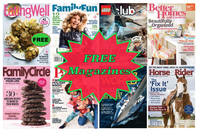 FREE Eating Well Magazine Subscription {Plus SEVEN (7) More FREE too!} Worth $305 Total! No Credit Card Needed & You'll Never Even Get A Bill!}