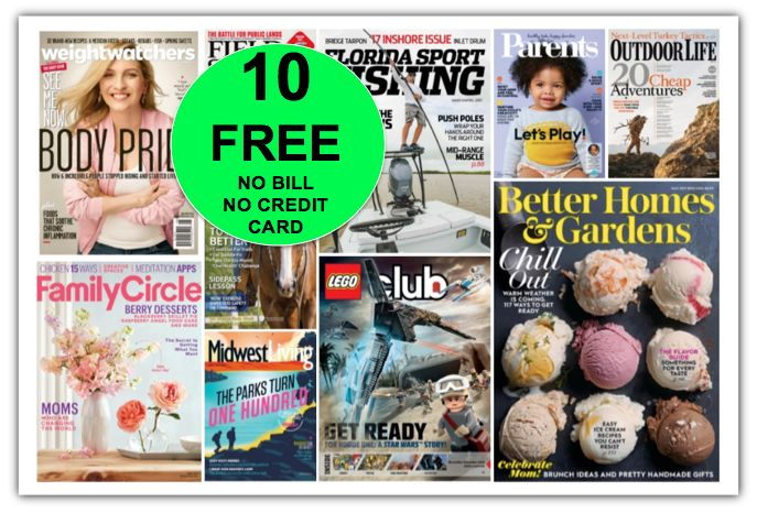 GREAT GIFT IDEA for Mother's Day and Father's Day! FREE Outdoor Life Annual Magazine Subscription {PLUS NINE (9!) More FREE Magazine Subscriptions!}