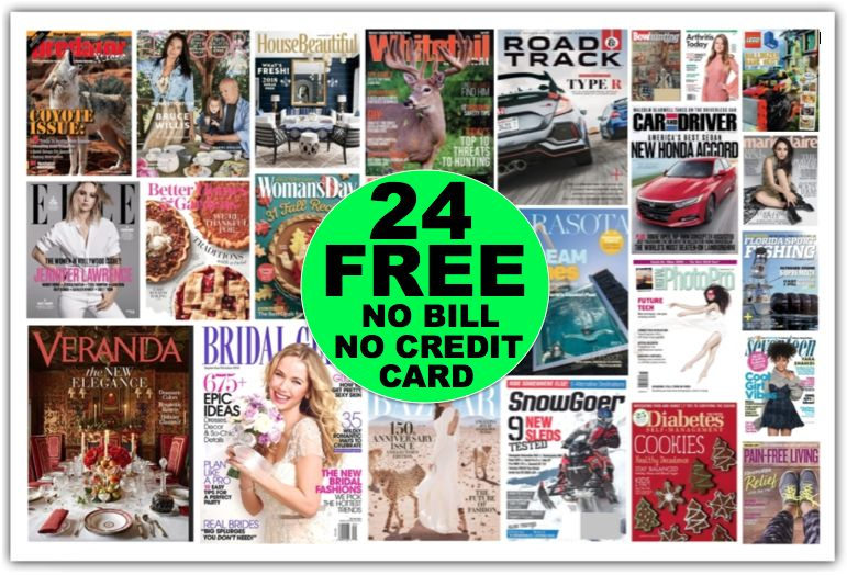 Fox Deal of the Week! Twenty-Four (24!) FREE Magazine Subscriptions for Christmas Gifts!!