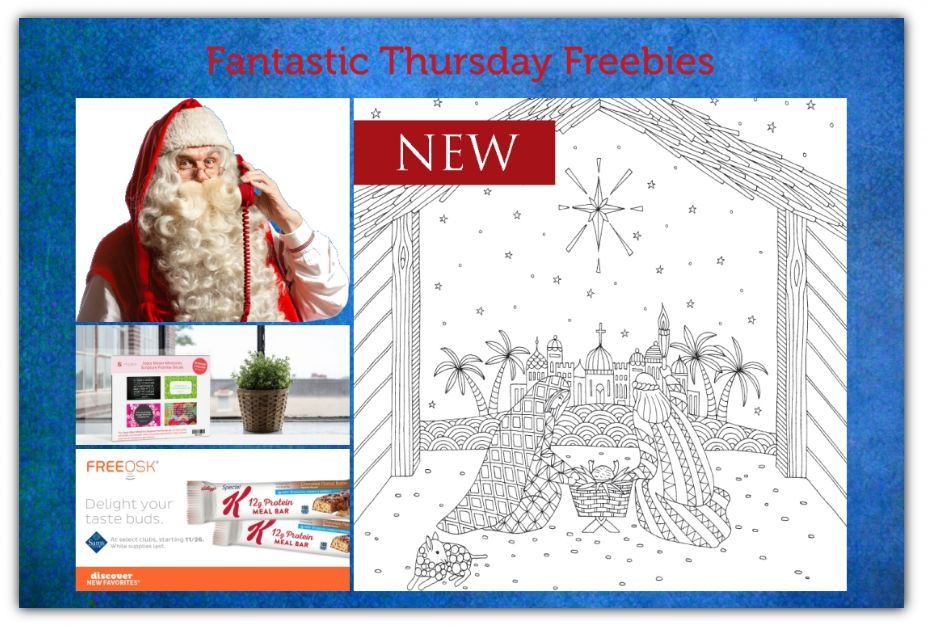 FOUR FREEbies:  Special K Bars at Sam's Club, Joyce Meyer Scripture Promise Decals, Personalized Video Message from Santa and Printable Christmas Coloring Pages!