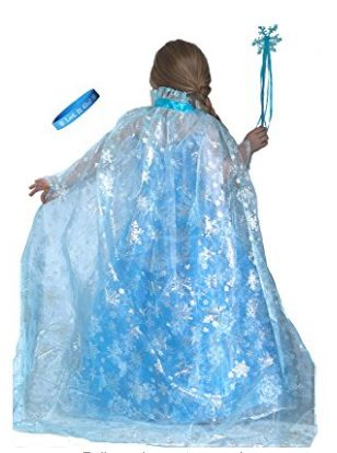 Disney Frozen Shimmering Snowflake Cape and Wand