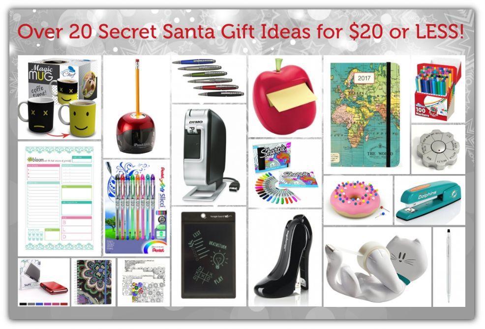 over 20 secret santa gift ideas for 20 or less. Black Bedroom Furniture Sets. Home Design Ideas